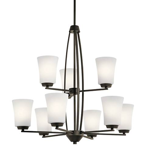 "Kichler Tao 26 1/2"" Wide Oiled Bronze 9-Light Chandelier"