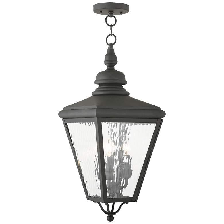 "Cambridge 25 1/4"" High Black Outdoor Hanging Light"