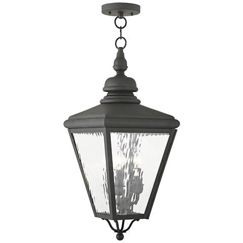 "Cambridge 25 1/4"" High Black Outdoor Hanging Light"