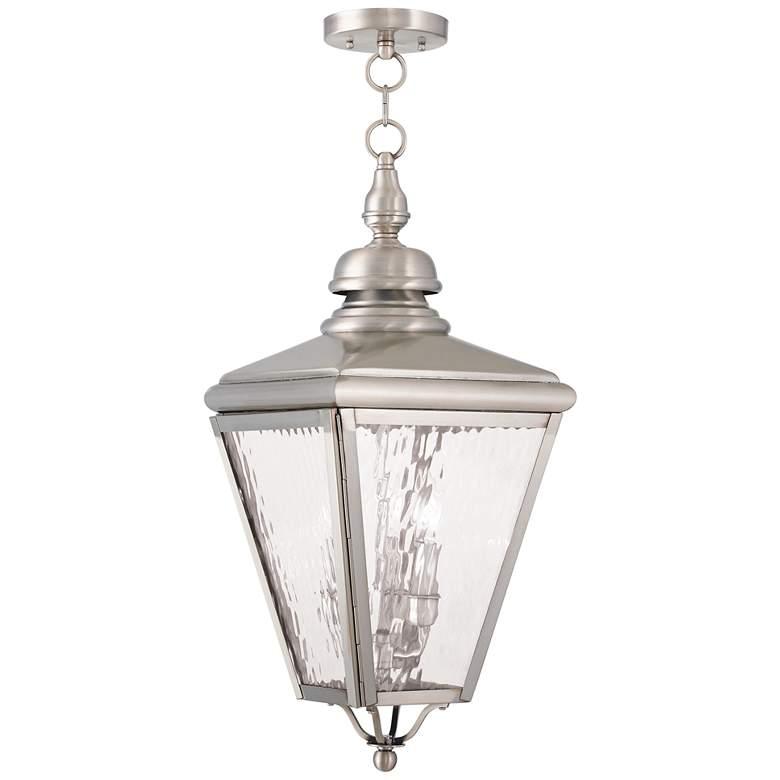 Cambridge 25 1 4 High Brushed Nickel Outdoor Hanging Light