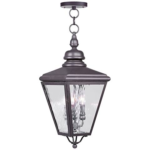 "Cambridge 25 1/4"" High Bronze Outdoor Hanging Light"
