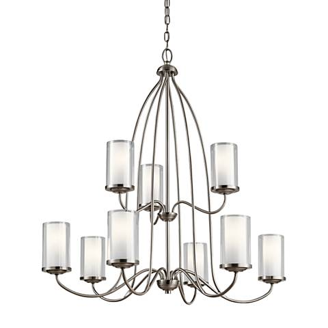 "Kichler Lorin 32"" Wide Classic Pewter 9-Light Chandelier"