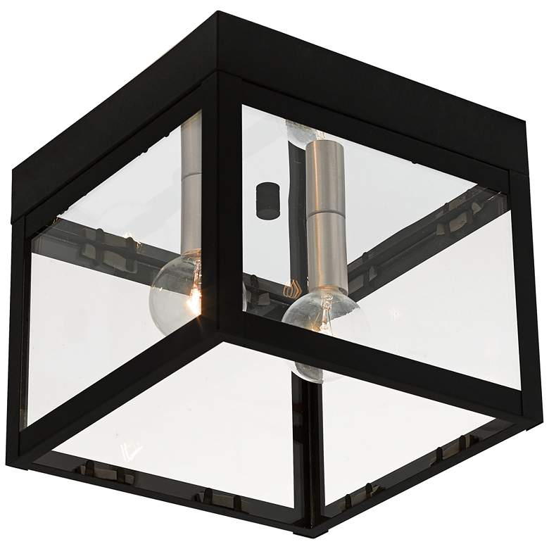 """Nyack 8"""" Wide Black Outdoor Ceiling Light"""
