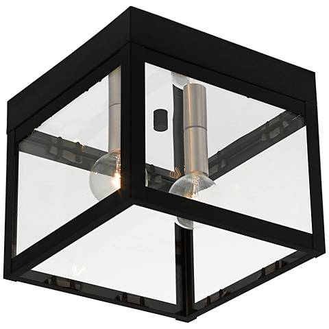 "Nyack 8"" Wide Black Outdoor Ceiling Light"