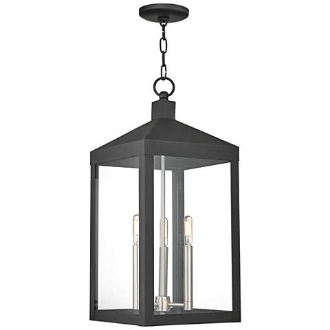 "Nyack 24"" High Black Outdoor Hanging Light"