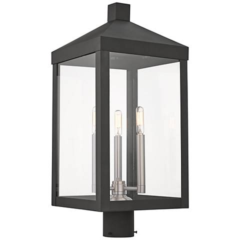"Nyack 24"" High Black Outdoor Post Light"