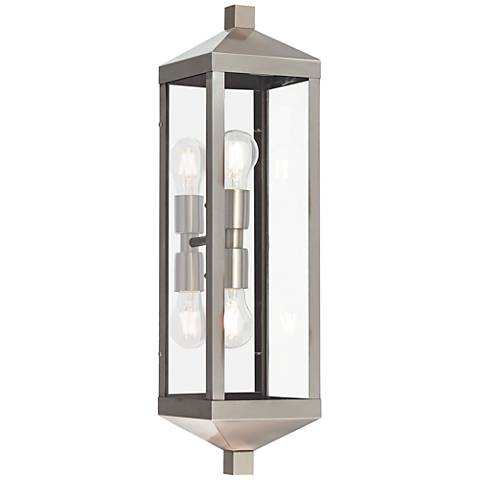 "Nyack 24"" High Brushed Nickel Outdoor Wall Light"