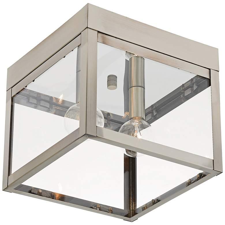 "Nyack 8"" Wide Brushed Nickel Outdoor Ceiling Light"