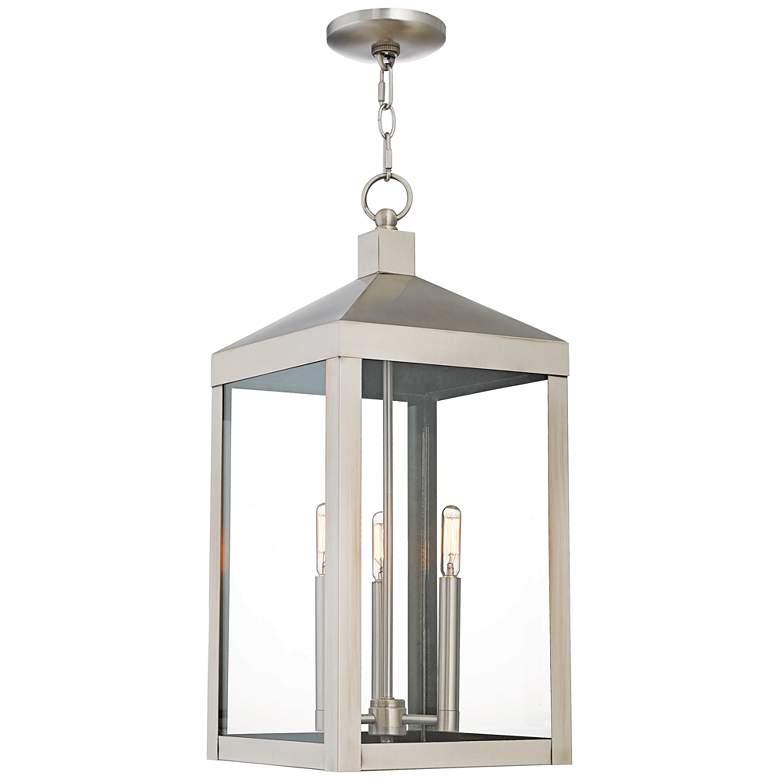 """Nyack 24"""" High Brushed Nickel Outdoor Hanging Light"""