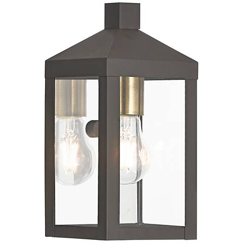 "Nyack 10 1/2"" High Bronze Outdoor Wall Light"