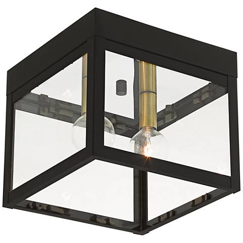 """Nyack 8"""" Wide Bronze Outdoor Ceiling Light"""
