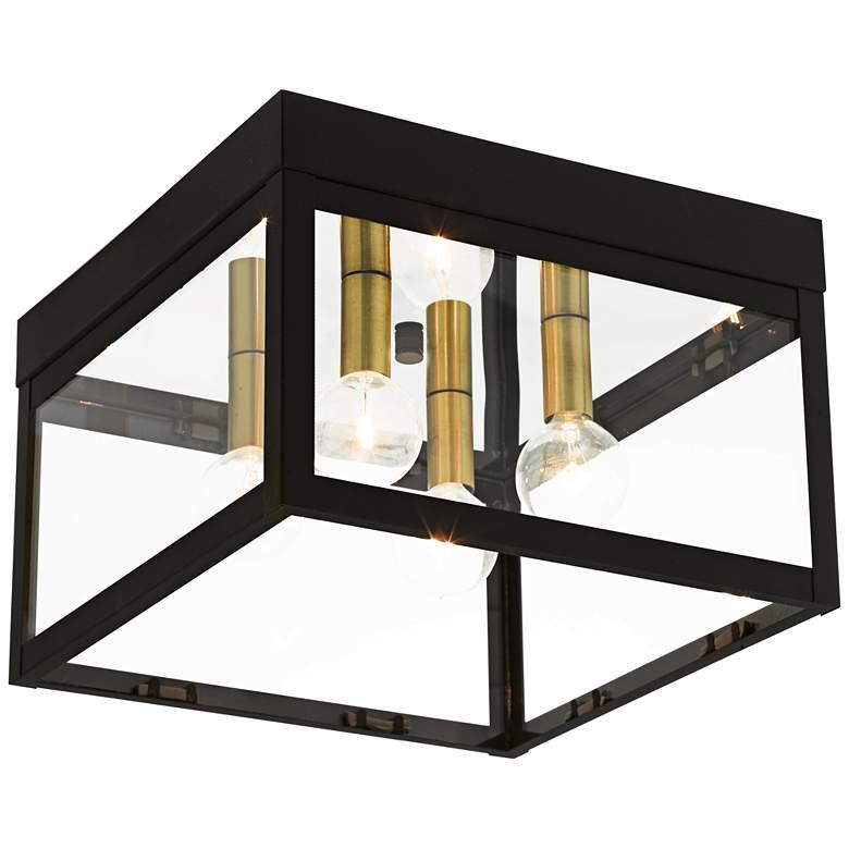"""Nyack 10 1/2"""" Wide Bronze Outdoor Ceiling Light"""