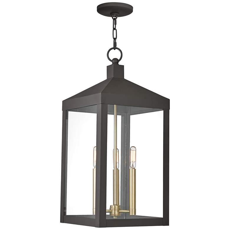 "Nyack 24"" High Bronze Outdoor Hanging Light"