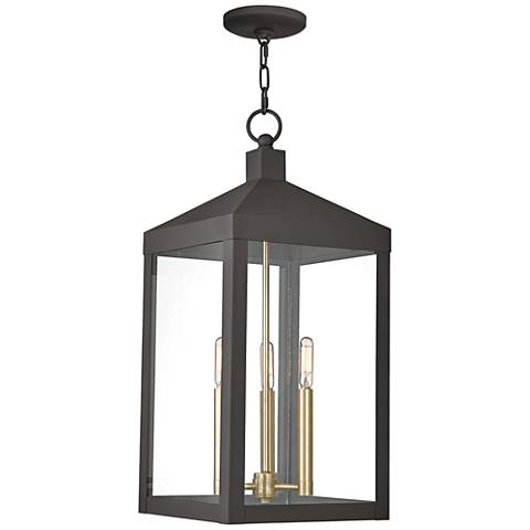 "Nyack 24"" High Bronze Outdoor Hanging Light"