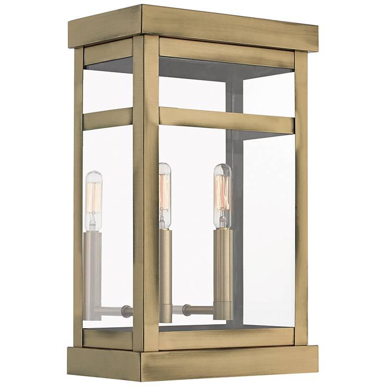 """Hopewell 15"""" High Antique Brass 2-Light Outdoor Wall Light"""