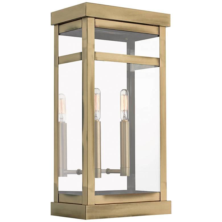 """Hopewell 18"""" High Antique Brass 2-Light Outdoor Wall Light"""