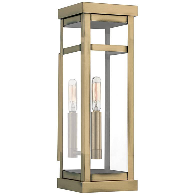"""Hopewell 15"""" High Antique Brass Outdoor Wall Light"""