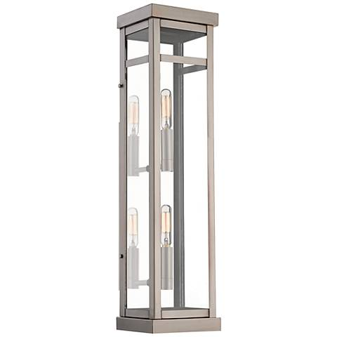 "Hopewell 22"" High Brushed Nickel 2-Light Outdoor Wall Light"