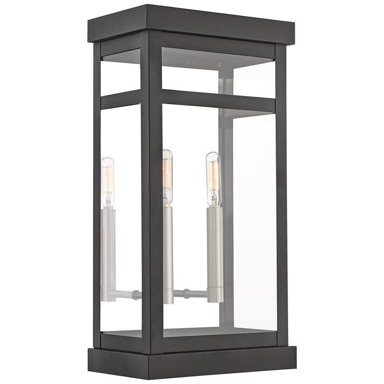 "Hopewell 18"" High Black 2-Light Outdoor Wall Light"