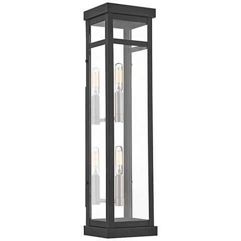 """Hopewell 22"""" High Black 2-Light Outdoor Wall Light"""