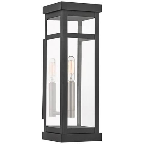 """Hopewell 15"""" High Black Outdoor Wall Light"""