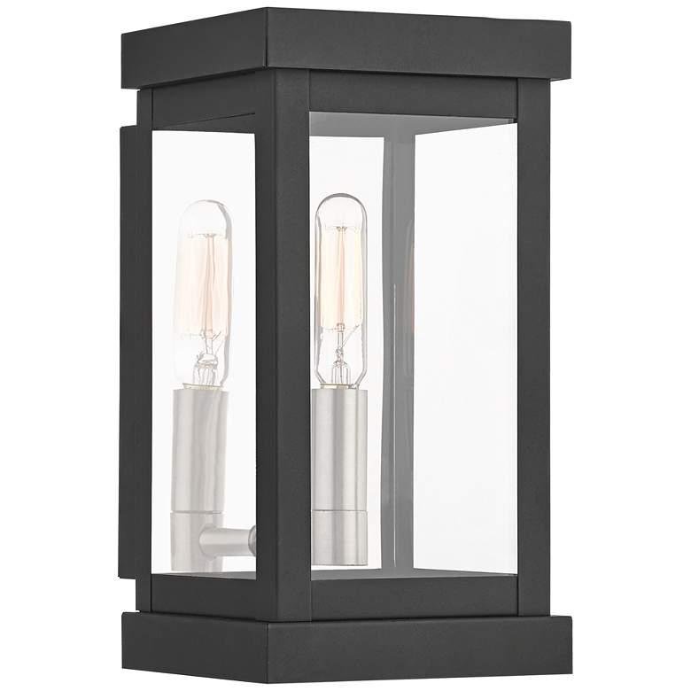 """Hopewell 9"""" High Black Outdoor Wall Light"""