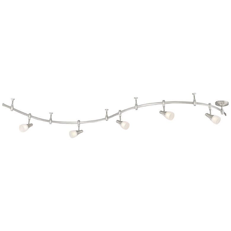 Quoizel Crofton 5-Light Brushed Nickel LED Track Light