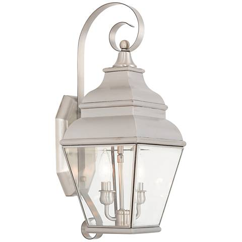 """Exeter 21 1/2""""H Brushed Nickel Outdoor Wall Light"""