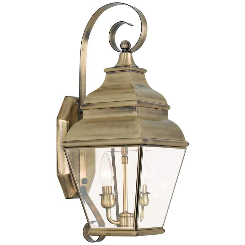 """Exeter 21 1/2"""" High Antique Brass Outdoor Wall Light"""