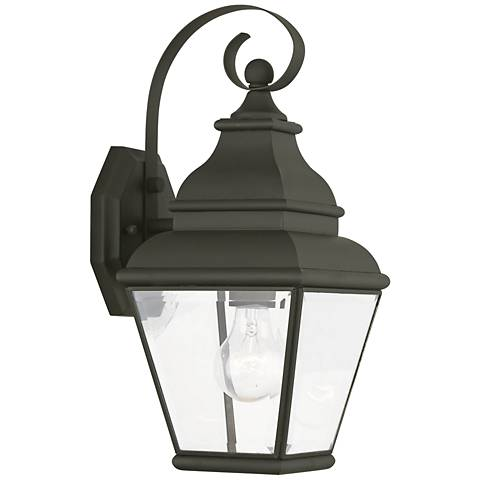 "Exeter 15 1/2"" High Black Outdoor Wall Light"