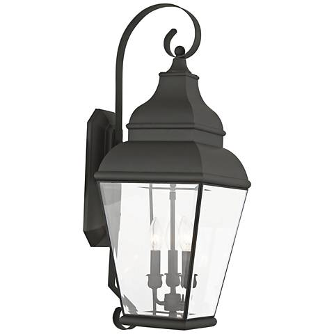 "Exeter 28"" High Black Outdoor Wall Light"
