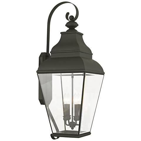 "Exeter 36"" High Black Outdoor Wall Light"