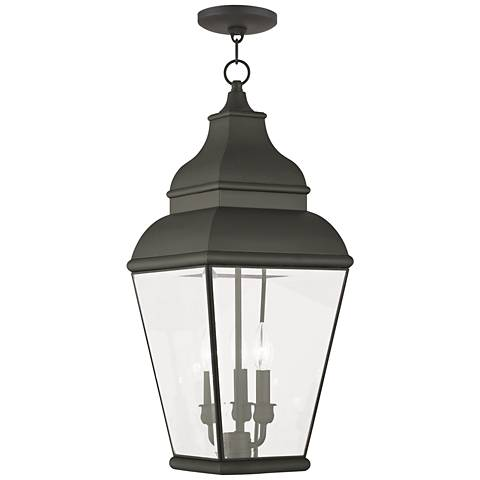 "Exeter 25"" High Black Outdoor Hanging Light"