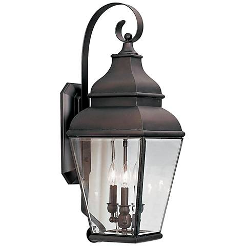 "Exeter 29"" High Bronze Outdoor Wall Light"
