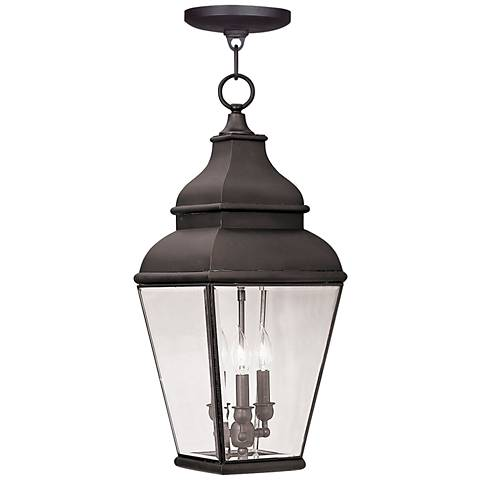 "Exeter 25"" High Bronze Outdoor Hanging Light"