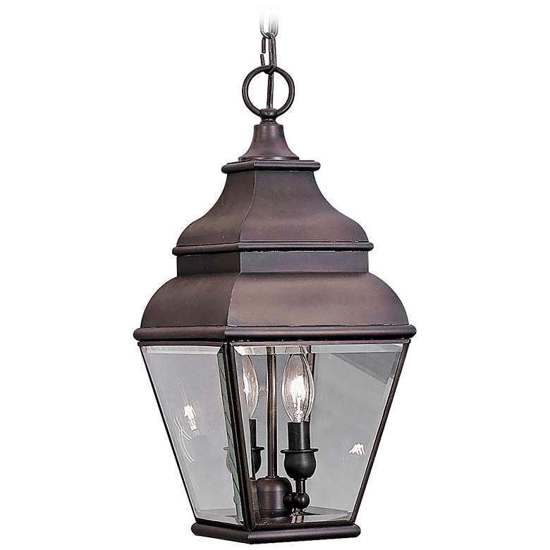 "Exeter 19"" High Bronze Outdoor Hanging Light"