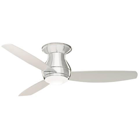 "52"" Emerson Curva Sky Brushed Steel Hugger LED Ceiling Fan"