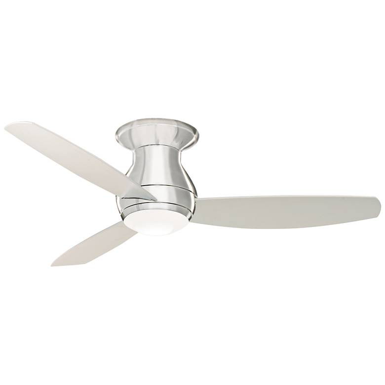 "52"" Emerson Curva Sky Brushed Steel Hugger LED Ceiling Fan"