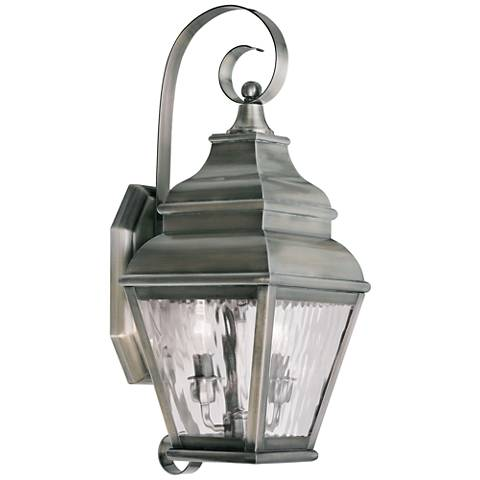 """Exeter 21 1/2""""H Vintage Pewter Outdoor Wall Light"""
