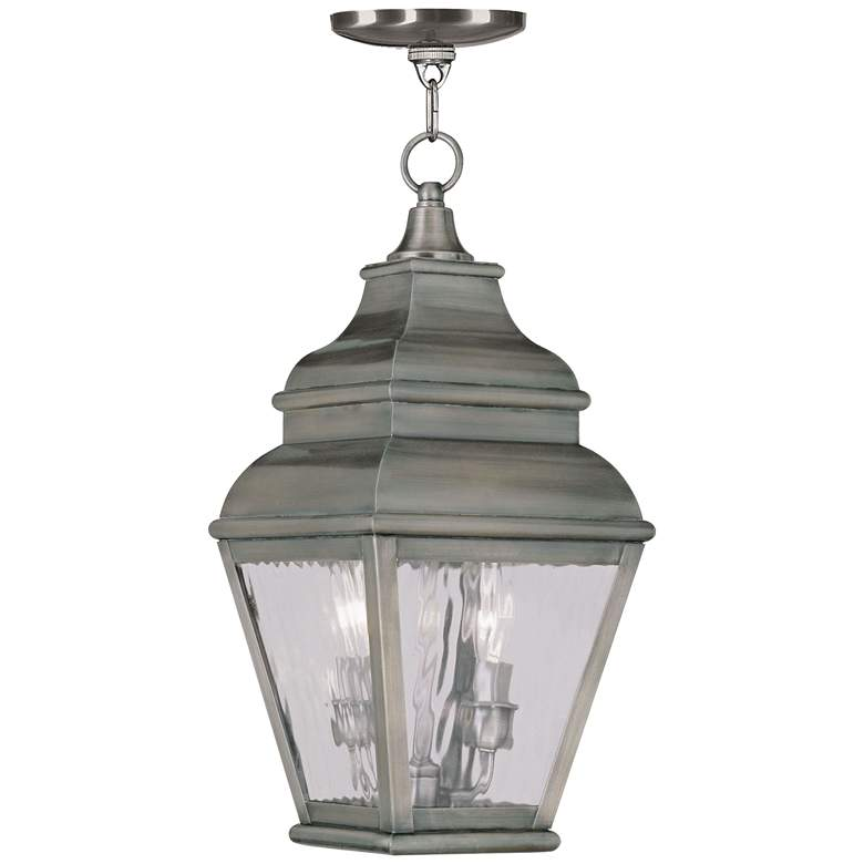 """Exeter 19"""" High Vintage Pewter Outdoor Hanging Light"""