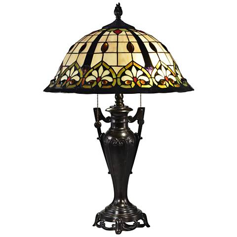 Dale Tiffany Kerne Fieldstone Tiffany-Style Table Lamp