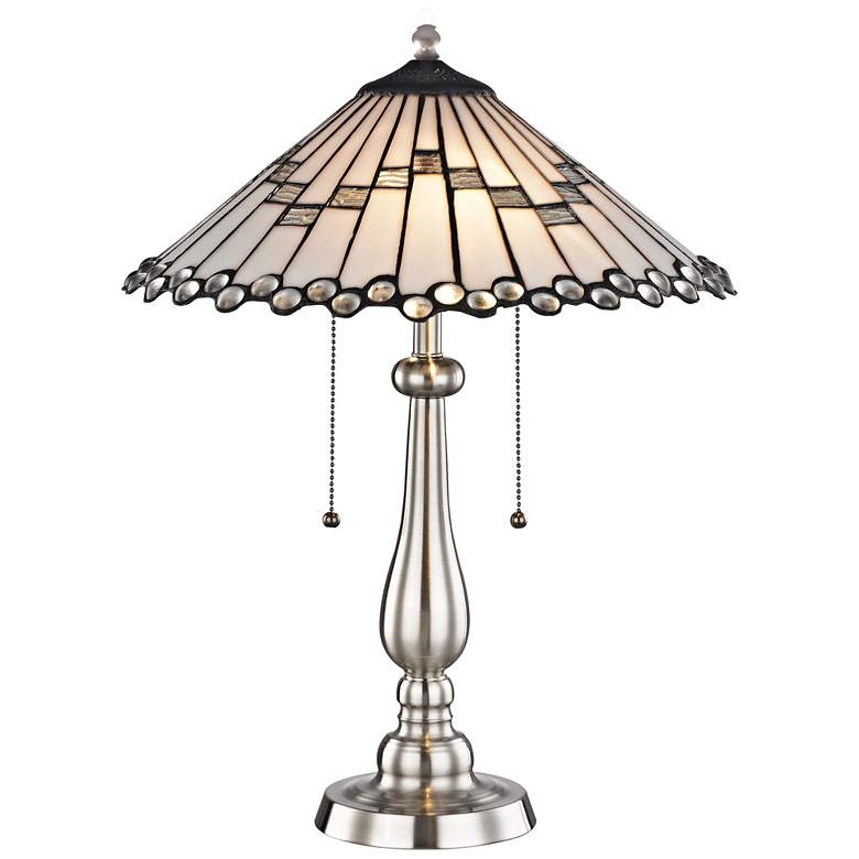 Jensen Brushed Nickel Tiffany-Style Accent Table Lamp