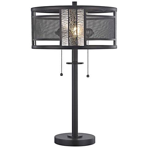 Griffin Dark Antique Bronze Tiffany-Style Accent Table Lamp
