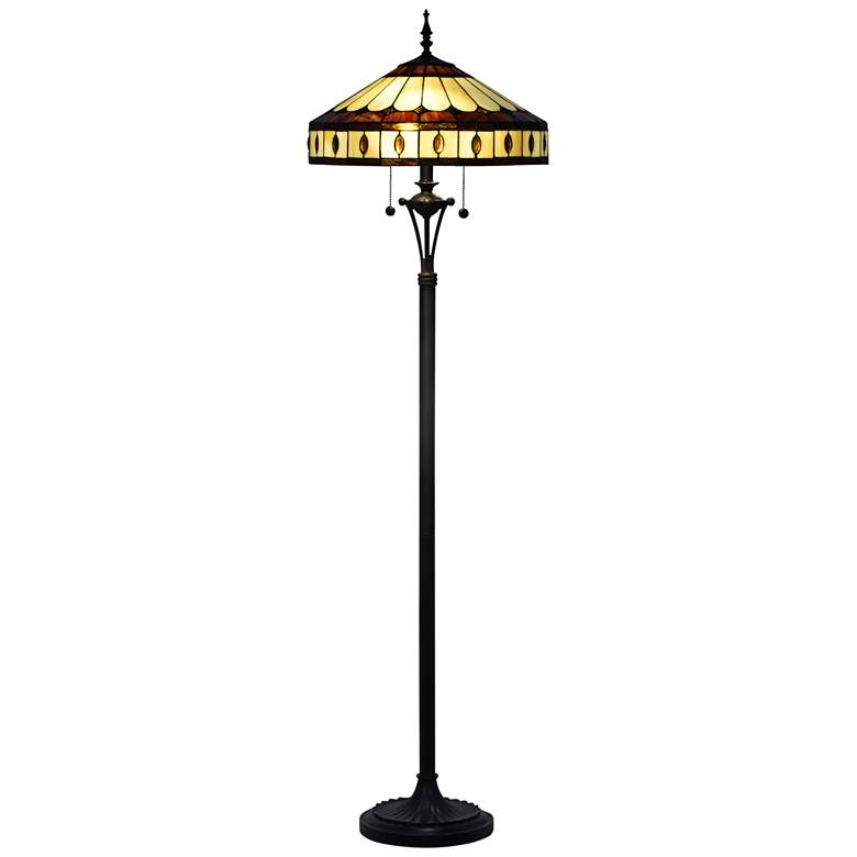 Dale Tiffany Julio Antique Bronze Tiffany-Style Floor Lamp