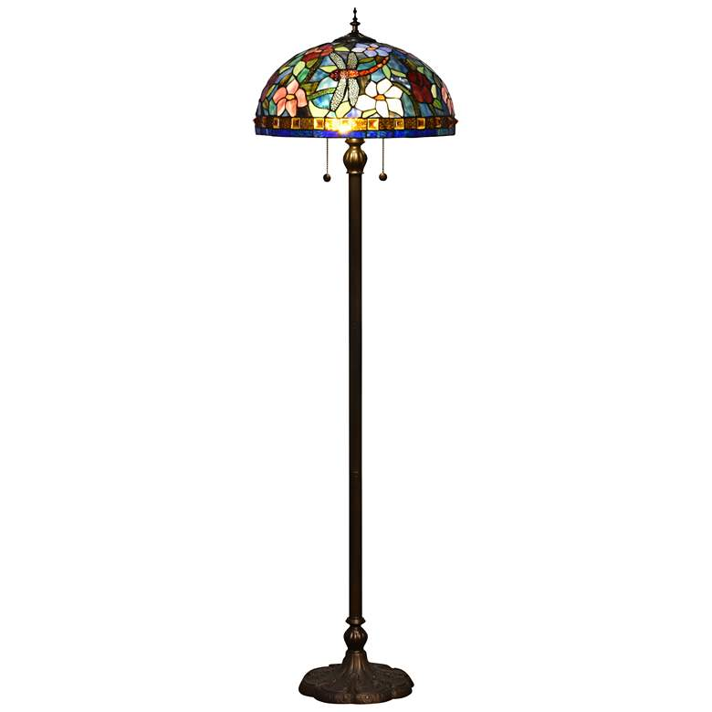 Dale Tiffany Josef Antique Bronze Tiffany-Style Floor Lamp