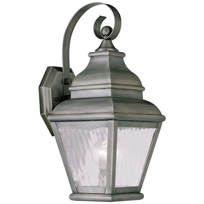 """Exeter 14 1/2"""" High Vintage Pewter Outdoor Wall Light"""
