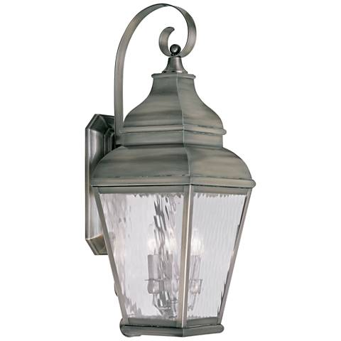 """Exeter 29"""" High Vintage Pewter Outdoor Wall Light"""