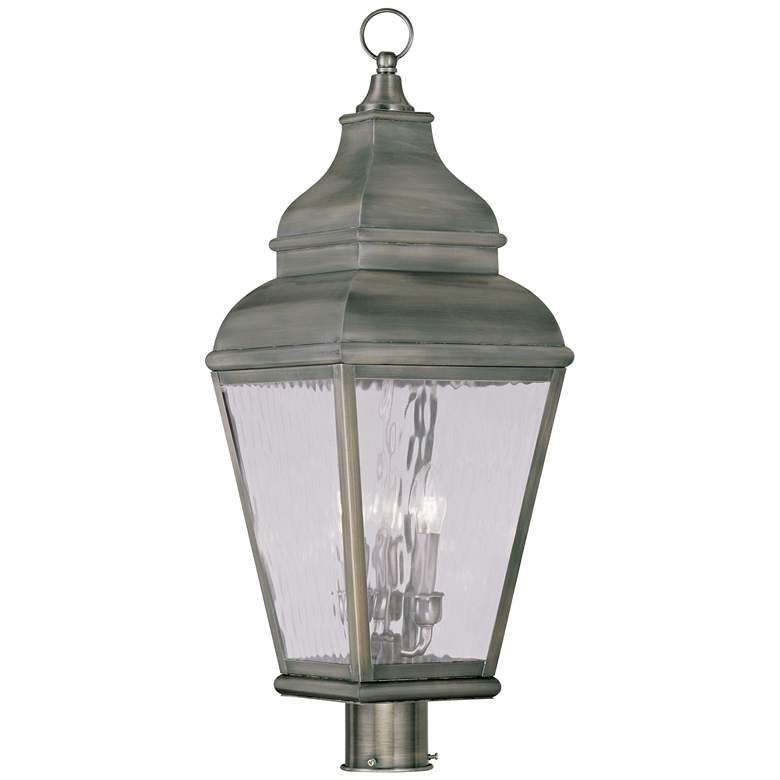 """Exeter 29 1/2"""" High Pewter Outdoor Post Light"""