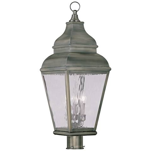 "Exeter 29 1/2"" High Pewter Outdoor Post Light"