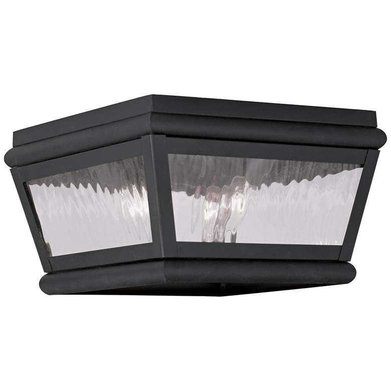 """Exeter 8"""" Wide Charcoal Outdoor Ceiling Light"""